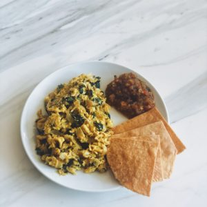 Spinach | Basil | Jalapeño | Scrambled Egg Breakfast