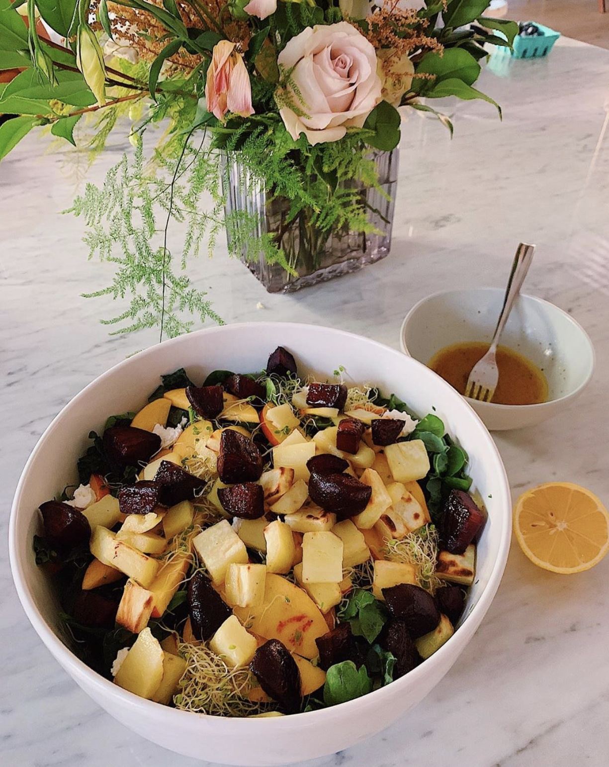 Fall Roasted Sweet Potato & Beet Salad