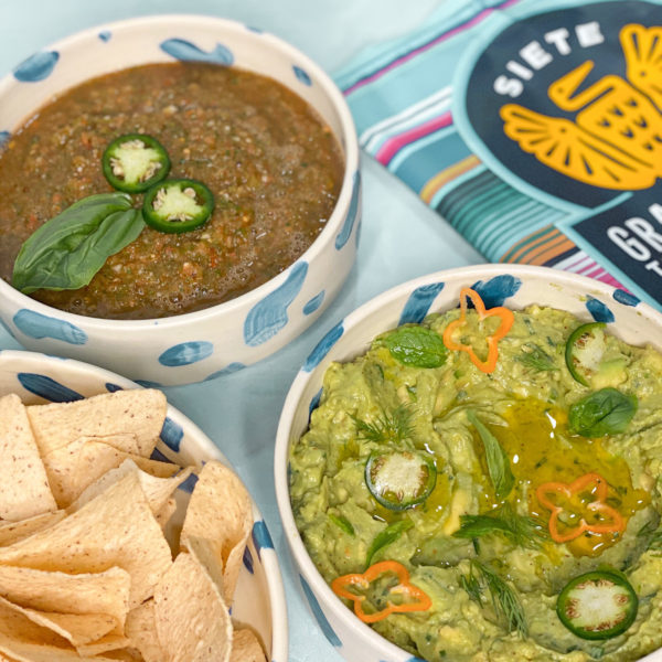 THE BEST HOMEMADE GUACAMOLE AND SALSA