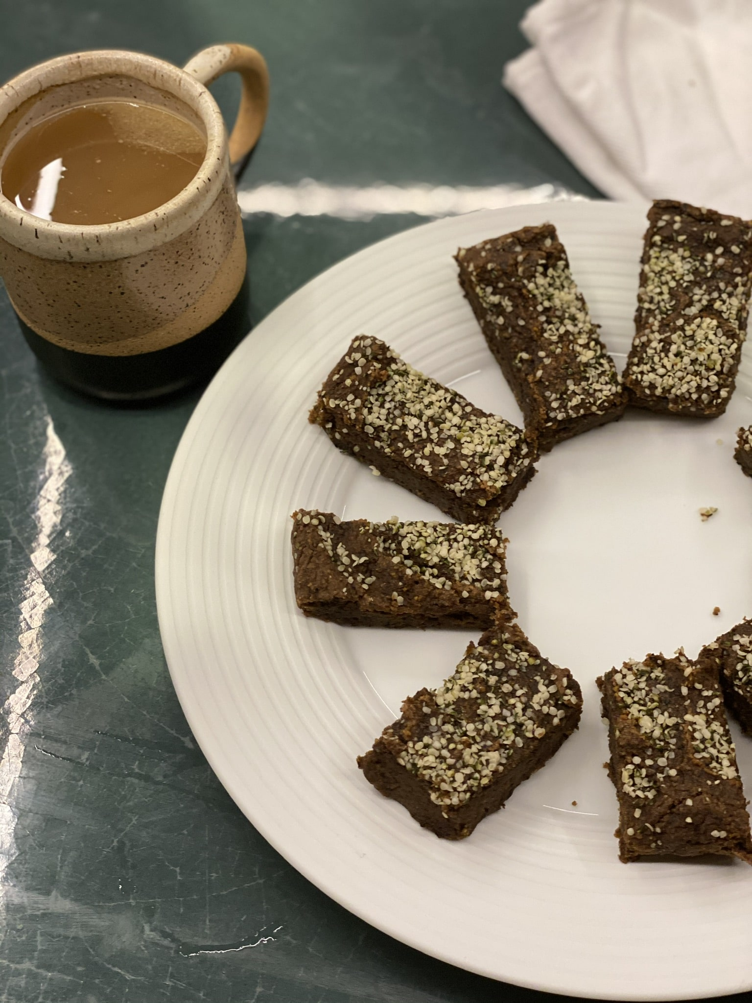 Black Bean Ginger Bread Bars