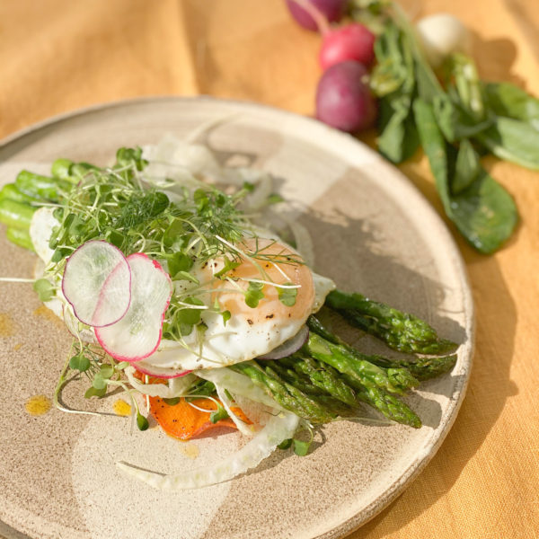 The Perfect Spring Medley: Eggs, Asparagus and Sweet Potato