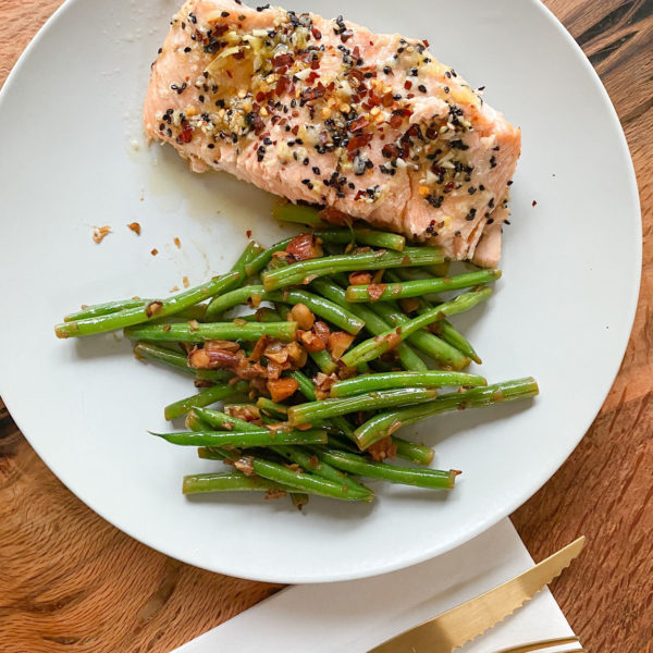 Honey Sesame Glazed Bake Salmon