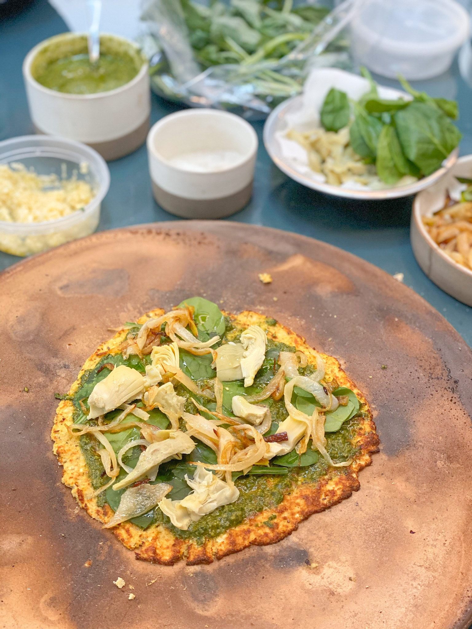 Homemade Cauliflower Pizza Crust